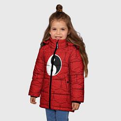 Куртка зимняя для девочки Yin Yang цвета 3D-черный — фото 2