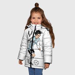 Куртка зимняя для девочки Messi Young цвета 3D-черный — фото 2