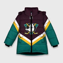 Куртка зимняя для девочки NHL: Anaheim Ducks цвета 3D-черный — фото 1