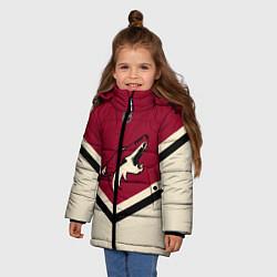 Куртка зимняя для девочки NHL: Arizona Coyotes цвета 3D-черный — фото 2