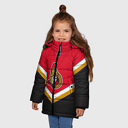 Куртка зимняя для девочки NHL: Ottawa Senators цвета 3D-черный — фото 2
