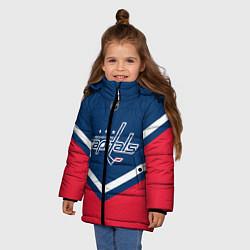 Куртка зимняя для девочки NHL: Washington Capitals цвета 3D-черный — фото 2