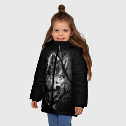 Куртка зимняя для девочки Серый волк цвета 3D-черный — фото 2