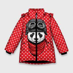 Куртка зимняя для девочки Панда пилот цвета 3D-черный — фото 1