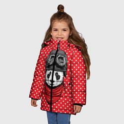 Куртка зимняя для девочки Панда пилот цвета 3D-черный — фото 2