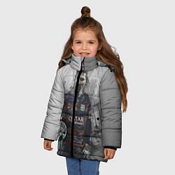 Куртка зимняя для девочки Lionel Messi цвета 3D-черный — фото 2