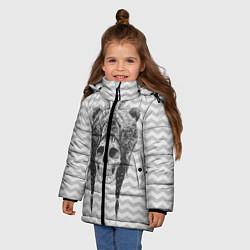 Куртка зимняя для девочки Мертвый шаман цвета 3D-черный — фото 2