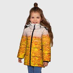 Куртка зимняя для девочки Пивная тема цвета 3D-черный — фото 2