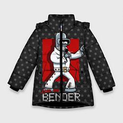Детская зимняя куртка для девочки с принтом Bender Presley, цвет: 3D-черный, артикул: 10113799106065 — фото 1