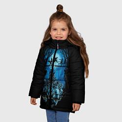Куртка зимняя для девочки Zombie Island цвета 3D-черный — фото 2