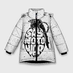 Куртка зимняя для девочки Say no to War цвета 3D-черный — фото 1