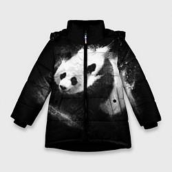 Куртка зимняя для девочки Молочная панда цвета 3D-черный — фото 1