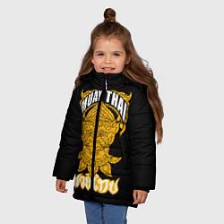 Куртка зимняя для девочки Muay Thai Fighter цвета 3D-черный — фото 2