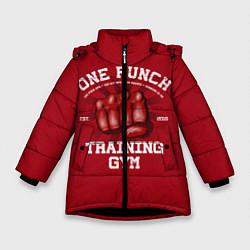 Куртка зимняя для девочки One Punch Gym цвета 3D-черный — фото 1