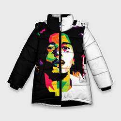 Куртка зимняя для девочки Bob Marley: Colors цвета 3D-черный — фото 1