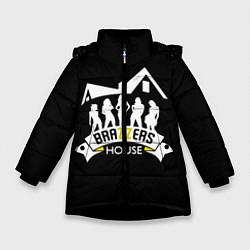 Куртка зимняя для девочки Brazzers House цвета 3D-черный — фото 1