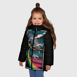 Куртка зимняя для девочки Led Zeppelin: Colour Fly - фото 2