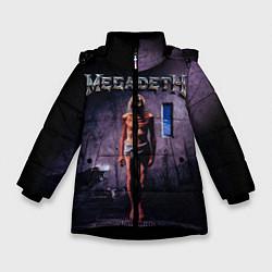 Куртка зимняя для девочки Megadeth: Madness цвета 3D-черный — фото 1