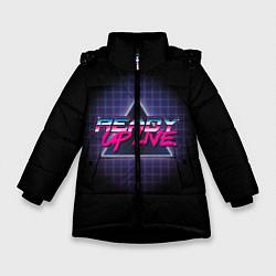 Куртка зимняя для девочки Ready Up Live цвета 3D-черный — фото 1