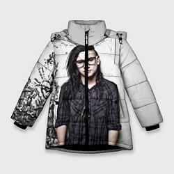 Куртка зимняя для девочки Skrillex Boy цвета 3D-черный — фото 1