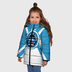 Куртка зимняя для девочки Космические войска России цвета 3D-черный — фото 2