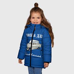 Куртка зимняя для девочки Москва для москвичей цвета 3D-черный — фото 2