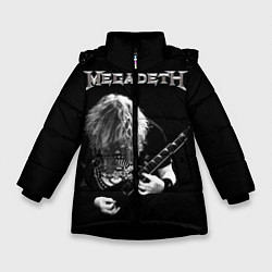 Детская зимняя куртка для девочки с принтом Dave Mustaine, цвет: 3D-черный, артикул: 10121348006065 — фото 1