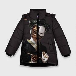 Куртка зимняя для девочки Ghost In The Shell 1 цвета 3D-черный — фото 1