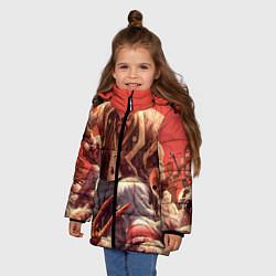 Детская зимняя куртка для девочки с принтом Dead island 5, цвет: 3D-черный, артикул: 10129110206065 — фото 2