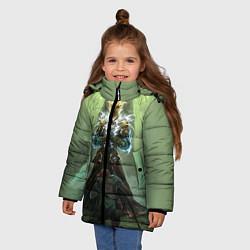 Куртка зимняя для девочки TES: Heaven Knight цвета 3D-черный — фото 2