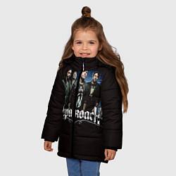 Куртка зимняя для девочки Paparoach: Black style цвета 3D-черный — фото 2