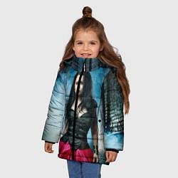 Куртка зимняя для девочки Evanescence цвета 3D-черный — фото 2
