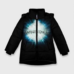 Куртка зимняя для девочки Evanescence Explode цвета 3D-черный — фото 1