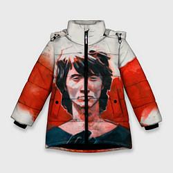 Куртка зимняя для девочки Молодой Цой цвета 3D-черный — фото 1