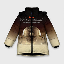 Куртка зимняя для девочки The International Championships цвета 3D-черный — фото 1