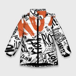 Куртка зимняя для девочки Paramore: Riot цвета 3D-черный — фото 1