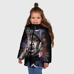 Куртка зимняя для девочки Ice Cube: Big boss цвета 3D-черный — фото 2