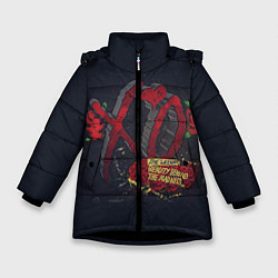 Куртка зимняя для девочки The Weeknd: Beauty Behind цвета 3D-черный — фото 1