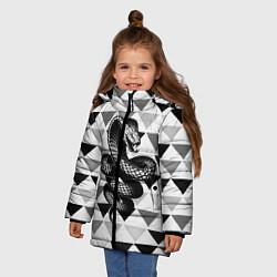 Куртка зимняя для девочки Snake Geometric - фото 2
