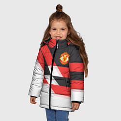Куртка зимняя для девочки Manchester United: Stipe цвета 3D-черный — фото 2
