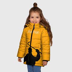 Куртка зимняя для девочки IFreeman цвета 3D-черный — фото 2