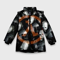 Куртка зимняя для девочки Альянс не дремлет цвета 3D-черный — фото 1