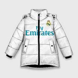Куртка зимняя для девочки Real Madrid цвета 3D-черный — фото 1