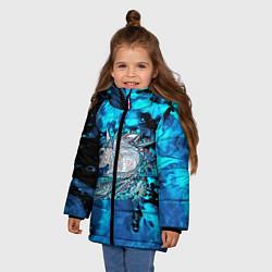 Куртка зимняя для девочки Сказочная лошадь цвета 3D-черный — фото 2