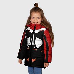 Куртка зимняя для девочки Metalocalypse: Dethklok Face цвета 3D-черный — фото 2
