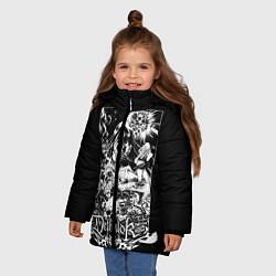 Детская зимняя куртка для девочки с принтом Dethklok: Metalocalypse, цвет: 3D-черный, артикул: 10134388906065 — фото 2
