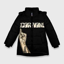 Куртка зимняя для девочки Scorpions Rock цвета 3D-черный — фото 1
