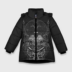 Куртка зимняя для девочки Wolves in the Throne Room цвета 3D-черный — фото 1