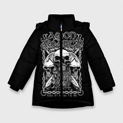 Куртка зимняя для девочки Amon Amarth: Trio Skulls цвета 3D-черный — фото 1