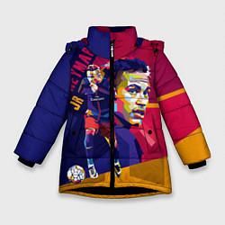 Куртка зимняя для девочки Jr. Neymar цвета 3D-черный — фото 1